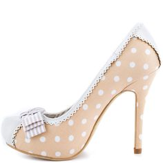 """Not Rated """"Pink Martini"""" Pump in Beige"""