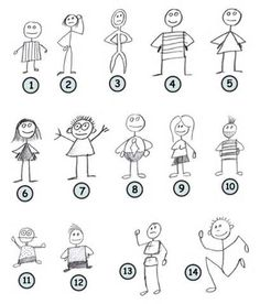 draw stick figures with clothes google search - Drawing For Little Kids