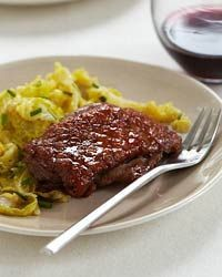 Honey-Glazed Duck with Savoy Cabbage Recipe from Food & Wine