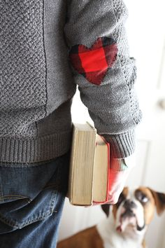 Wear Your Heart On Your Sleeve: DIY Elbow Patches