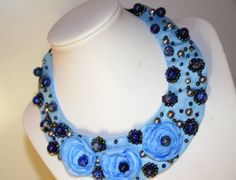 Handmade statement necklace. For sale.