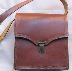Leather+Shoulder+Bag+7in+Wide