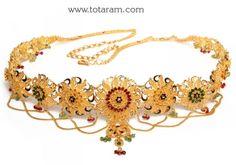 22K Gold Vaddanam: Totaram Jewelers: Buy Indian Gold jewelry & 18K Diamond jewelry