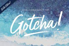 New - Gotcha! Casual Marker Font