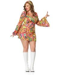 Hippie Chick Costume. Sassy Selection of Sexy Costumes for Women. Plus Size Sexy Costumes