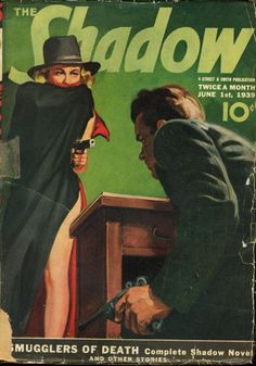 THE SHADOW | pulp cover art vintage