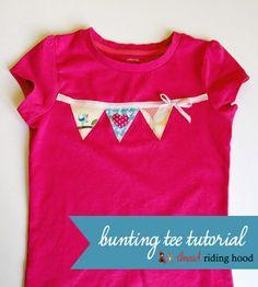 Super Simple Bunting Tee {a tutorial}