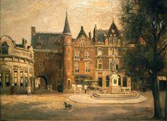 0804, Gevangenpoort gezien vanaf de Plaats, Den Haag