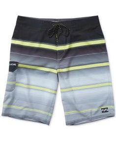 """Billabong Men's All Day Striped 21"""" Swim Trunks - Gray 34"""