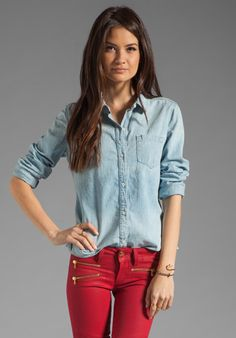 TEXTILE ELIZABETH AND JAMES Phoenix Shirt in Canyon at Revolve Clothing