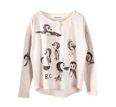 t-shirt LS Birds | Bobo Choses