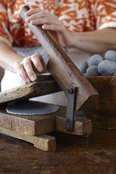 I'm makin' one of those!!handmade tortillas press- katienewburn.com