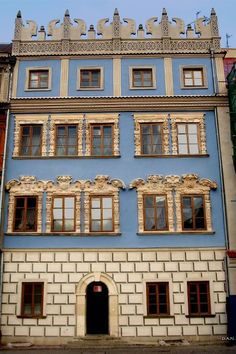 LUBLIN - Poland Historical Monuments, Historical Architecture, Wonderful Places, Beautiful Places, Visit Poland, Colorful Houses, My Kind Of Town, Building Exterior, Central Europe