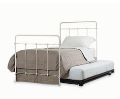 Pop Up Trundle Bed from Charles P. Rogers. Could be a great solution for playroom/guest room.