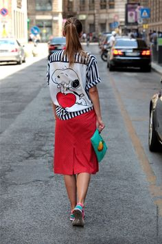 Snoopy Shirt Stripes