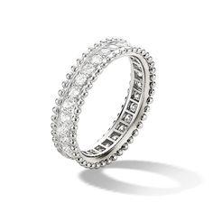 エステル エタニティリング,プラチナ - 3|4 View - VCARN57O00 - Van Cleef & Arpels 結婚指輪・マリッジリングの参考に♡ヴァンクリーフアーペル の一覧を集めました♡