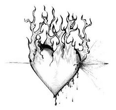 Cool Heart Drawings, Broken Heart Drawings, Sad Drawings, Dark Art Drawings, Tattoo Design Drawings, Heart Tattoo Designs, Pencil Art Drawings, Art Drawings Sketches, Drawings Of Hearts