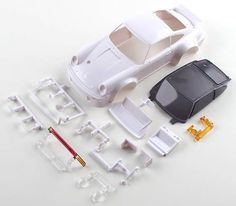 Kyosho Mini-Z MR015/MR03N RM Porsche 934 RSR Turbo White Body Set