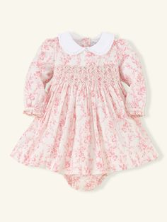 Ralph Lauren //  Floral Smocked Cotton Dress