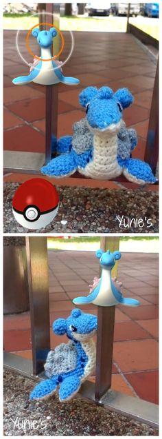 Free Lapras (Pokémon) crochet pattern with pictures. A free amigurumi crochet pattern for crochet addicts and Pokémon lovers