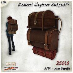 Second Life Marketplace - [Ginger Line] Medieval Wayfarer Backpack ...