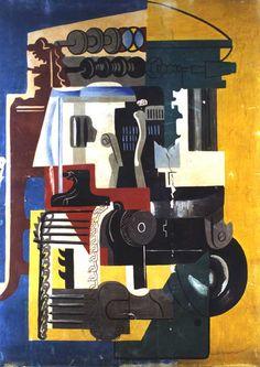 Gino Severini is one of the Futurists that appeals to me most.     Macchina per produrre calze, 1947     Gino Severini
