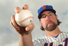 R.A. Dickey. The only knuckleballer left in  baseball. He is a great athlete and one of the most inspirational men in all of sports!!