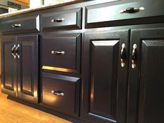 Kitchen Island Transformation Using Black Gel Stain and High Performance Top Coat | General Finishes Design Center