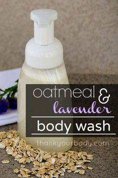 DIY Homemade Body Wash: Oatmeal infused for a soothing touch. - - DIY Homemade Body Wash: Oatmeal infused for a soothing touch. homemade-bodyshop and remedies/naturkosmetik Hausgemachtes Duschbad Diy Body Wash, Homemade Body Wash, Natural Body Wash, Homemade Hand Soap, Homemade Shower Gel, Organic Body Wash, Homemade Scrub, All Natural Skin Care, Homemade Skin Care