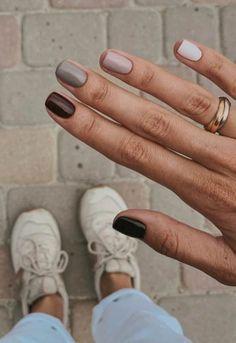Minimalist Nails, Cute Acrylic Nails, Cute Nails, Acrylic Art, Pretty Nails, Cute Fall Nails, Autumn Nails Acrylic, Pretty Short Nails, Painted Toe Nails