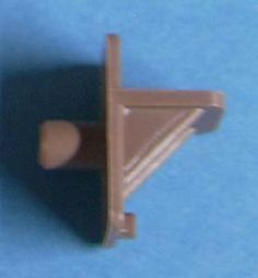 """Tan Plastic Shelf Supports - 1/4"""" Peg (Pkg of 200) 11811T by Bmi. $20.00. Shelf support with 1/4"""" diameter peg. Package of 200."""