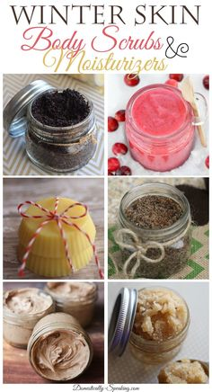 Some great DIY Skin Winter Body Scrubs and Moisturizers that are perfect to help your dry winter skin.