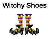 Halloween Brick Stitch Delica Bead Pattern Witch Shoes Pendant by MigotoChou, $3.00