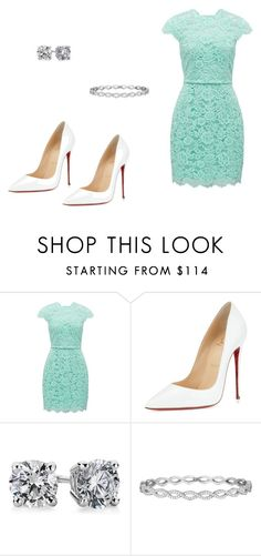 """""""323 outfit"""" by julieannbb13 ❤ liked on Polyvore featuring Forever New, Christian Louboutin, Blue Nile and Penny Preville"""