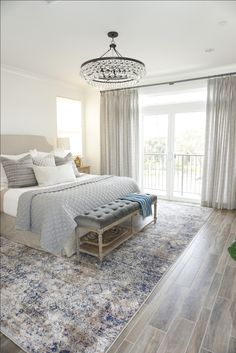 The majority of our jobs lately have been architectural drafting and hard finish selecting (which is awesome!) BUT my heart really beats for the interior installation days! Master Bedroom Redo, Bedroom Inspo, Master Bath, Guest Bedrooms, Master Bedrooms, Bedroom Styles, Beautiful Bedrooms, Coastal Living, Sweet Home