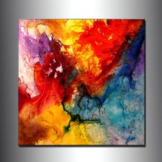 Abstract Art Huge Abstract Painting Original by newwaveartgallery, $900.00 LOOK LIKE POUR PAINTINGS>