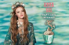 """Anna Sui does it again: making bottles of perfume so covetable that you long to own them because """"Look, how pretty!"""" Luckily, Fantasia Mermaid lives up to its Ginger Person, Anna Sui Perfume, Daisy Perfume, Perfume Display, Celebrity Perfume, Marc Jacobs Daisy, Perfume Reviews, Fragrance Oil, Perfume Bottles"""