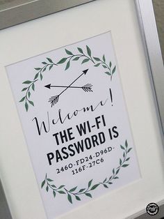 #poster #print #decoration #frame #forthehome #wifi #posters