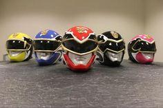Power Rangers Megaforce helmets