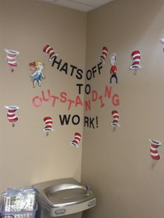 Dr. Seuss themed classroom ideas...Love this title for a bulletin board!