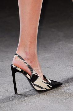 Christian Siriano Fall 2014 New York Fashion Week Womens Fashion Sneakers, Fashion Shoes, Mode Shoes, Slingback Shoes, Slingbacks, Christian Siriano, High Heels Stilettos, Beautiful Shoes, Me Too Shoes