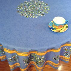 70in or 90in round coated wipe over tablecloth