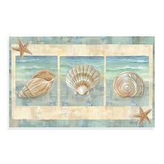 """Calm Chef Island Shell Kitchen Mat - $24.99 •Measures 19 1/2"""" x 31 1/2"""" •100% polyester •Wipe clean •Imported"""