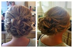 soft wedding updo.   (I found this and love how it looks, tho it seems hard to do)