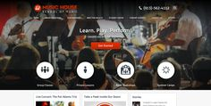Create a new, responsive website for a growing music academy. Our client needed to reach a larger audience for their expanding business. http://www.musichouseschool.com