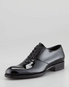 8442c35e1738 Tom Ford Edward Patent Leather Oxford Black - Lyst Men Dress
