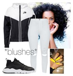 """""""*blushes*"""" by love-mii-aaliyah on Polyvore featuring NIKE"""