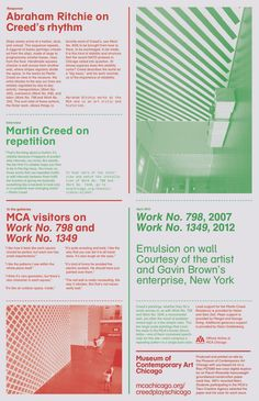 MCA print for Martin Creed exhibition