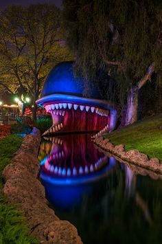 Monstro the Whale at Disneyland ...this scared me when I was a little girl. But now it stirs up sweet emotions when I see him ♥