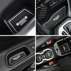 Toppower White Anti-dust Non-Slip Interior Door,Cup,Arm Box,Storage Mat For Jeep Renegade 2016 (Pack of 16). For product info go to:  https://www.caraccessoriesonlinemarket.com/toppower-white-anti-dust-non-slip-interior-doorcuparm-boxstorage-mat-for-jeep-renegade-2016-pack-of-16/